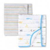 Baby Boys Safari Coast Swaddle Blanket 2-Pack