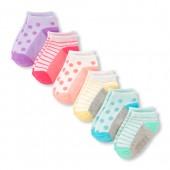 Toddler Girls Metallic Dot Print Ankle Socks 6-Pack