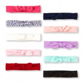 Baby Girls Knotted Bow Headwrap 10-Pack