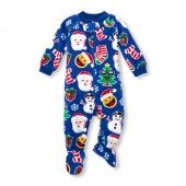 Unisex Baby And Toddler Matching Family Long Sleeve Christmas Footed Blanket Sleeper