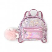Girls Metallic Flip Sequin Mini Backpack