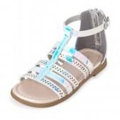 Toddler Girls Laser Cut Holographic Gladiator Sandals
