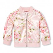 Baby And Toddler Girls Floral Bomber Jacket