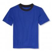 Boys Short Sleeve Solid PJ Top
