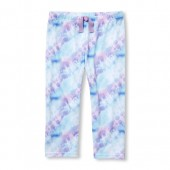 Girls Tie-Dye Capri Leggings