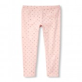 Girls Foil Dot Print Leggings