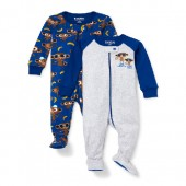 Baby And Toddler Boys Long Sleeve 'Like Father Like Son' Monkey Snug-Fit Footed Stretchie 2-Pack