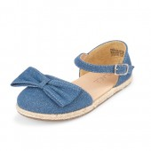 Toddler Girls Glitter Bow Denim Espadrilles