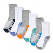 Boys PLACE Sport Colorblock Cushioned Crew Socks 6-Pack