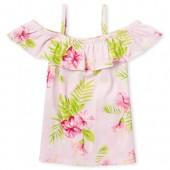 Girls Matchables Short Sleeve Print Off Shoulder Top