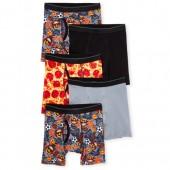 Boys Pizza Emoji Boxer Briefs 5-Pack