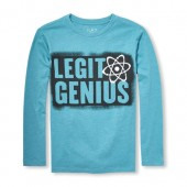 Boys Long Sleeve Legit Genius Graphic Tee