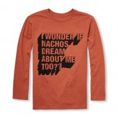 Boys Long Sleeve Nacho Dream Graphic Tee