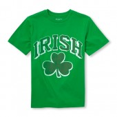 Boys Short Sleeve Irish Shamrock Graphic Tee