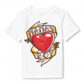 Baby And Toddler Boys Short Sleeve 'Mama's Boy' Tattoo Graphic Tee