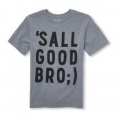 Boys Short Sleeve Sall Good Bro Graphic Tee