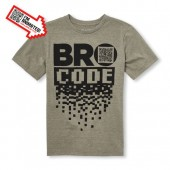 Boys Short Sleeve Bro Code Animated Graphic Tee