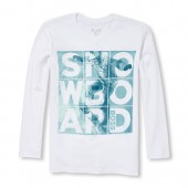 Boys Long Sleeve Snowboard Boss Graphic Tee