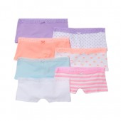 Girls Print And Lace Girl Short Briefs 7-Pack