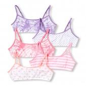 Girls Print Bralette 5-Pack