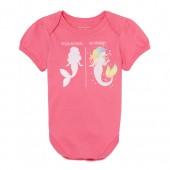 Baby Girls Short Sleeve Glitter Mermaid Mommy Graphic Bodysuit