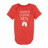 Baby Boys Short Sleeve 'Mommy's Coffee Date' Graphic Bodysuit