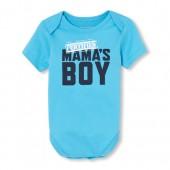 Baby Boys Short Sleeve 'Certified Mama's Boy' Graphic Bodysuit