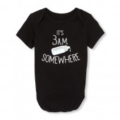 Unisex Baby Short Sleeve 'It's 3 AM Somewhere' Graphic Bodysuit