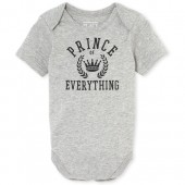 Baby Boys Matching Family Short Sleeve 'Prince Of Everything' Graphic Bodysuit