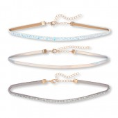 Girls Rhinestud Choker Necklace 3-Pack