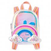 Girls Rainbow Confetti Shaker Iridescent Mini Backpack