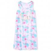 Girls Sleeveless Foil 'Hashtag Vacay Vibes' Flamingo Print Racerback Nightgown