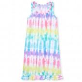 Girls Sleeveless Tie Dye Racerback Nightgown