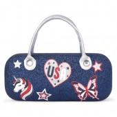 Girls Americana Glitter Sunglasses Case