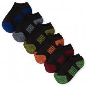 Boys Marled Ankle Socks 6-Pack