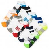 Boys Colorblock Ankle Socks 10-Pack