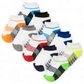 Toddler Boys Colorblock Ankle Socks 10-Pack