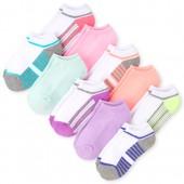 Girls Neon Striped Ankle Socks 10-Pack