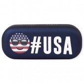 Boys Americana 'Hashtag USA' Emoji Sunglasses Case