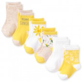 Baby Girls Daisy Midi Socks 6-Pack