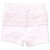 Baby Girls Leopard Print Ruffle Knit Shorts