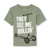 Baby And Toddler Boys Short Sleeve 'They See Me Rollin' Graphic Tee