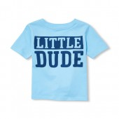 Baby And Toddler Boys Short Sleeve 'Little Dude' Graphic Tee