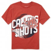 Boys Short Sleeve 'Calling All The Shots' Graphic Tee