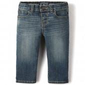 Baby And Toddler Boys Basic Straight Stretch Jeans - Aged Indigo Wash