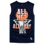Boys PLACE Sport Side Stripe Graphic Muscle Tank Top