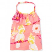 Baby And Toddler Girls Matchables Sleeveless Print Halter Top