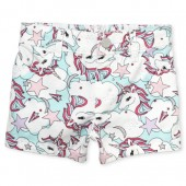 Baby And Toddler Girls Unicorn Print Woven Shortie Shorts