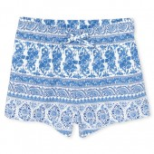 Baby And Toddler Girls Matchables Print Knit Shorts