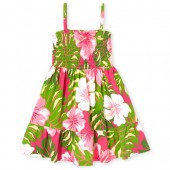 Baby And Toddler Girls Sleeveless Floral Print Smocked Knit Dress